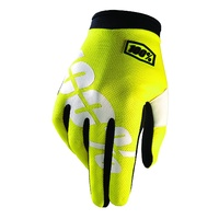 100% iTRACK Gloves Neon Yellow