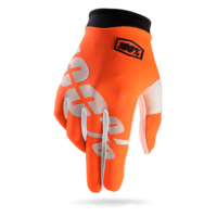 100% iTRACK Gloves Cal Trans (Orange)