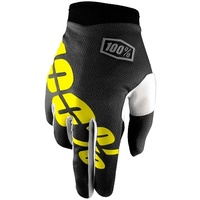 100% iTRACK Gloves Black/Yellow