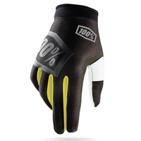 100% Incogneto Gloves Black/Fluro Yellow
