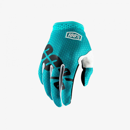 100% ITRACK Gloves Teal [Size: Youth Medium]